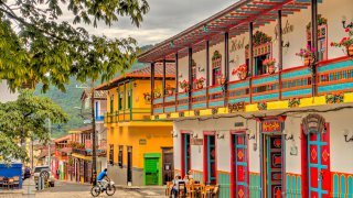 Jardin, picturesque town in Antioquia, Colombia