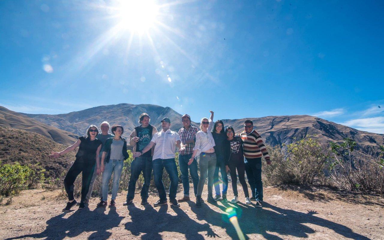 Terra team members in Argentina